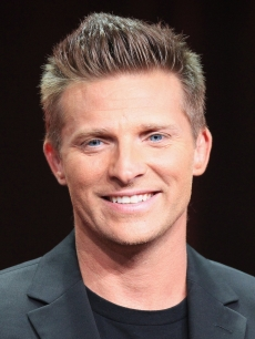 Steve Burton speaks onstage at the 'General Hospital' panel during day 6 of the Disney ABCTelevision Group portion of the 2012 Summer TCA Tour at The Beverly Hilton Hotel on July 26, 2012