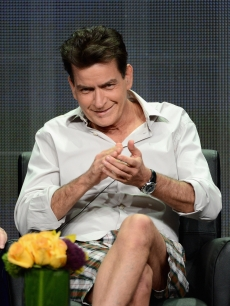 Charlie Sheen speaks onstage at the &#8216;Anger Management&#8217; panel during the FX portion of the 2012 Summer TCA Tour, Beverly Hills, on July 28, 2012