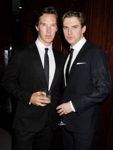 Benedict Cumberbatch and Dan Stevens attend the GQ Dinner hosted by Dylan Jones, Harold Tillman And Italo Zucchelli to celebrate the inaugural London Collections: Men at the Bulgari Hotel, London, on June 17, 2012