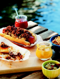 Susan Feniger's picadillo chili dog