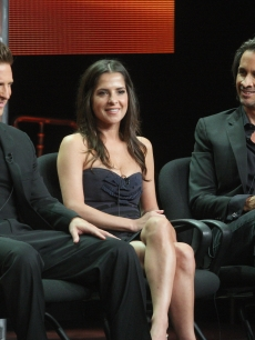 Steve Burton, actress Kelly Monaco and actor Michael Easton speak onstage at the 'General Hospital' panel during day 6 of the Disney ABCTelevision Group portion of the 2012 Summer TCA Tour at The Beverly Hilton Hotel on July 26, 2012