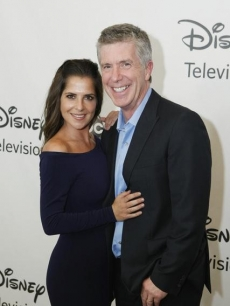 Kelly Monaco and Tom Bergeron attend ABC's post TCA day party at the Beverly Hilton Hotel, Beverly Hills, July 27, 2012