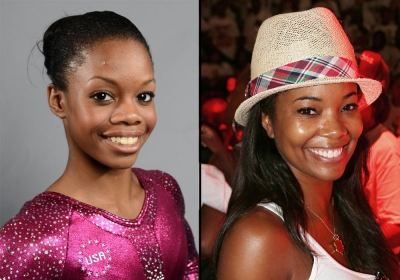Aside from sharing the same gymnast spunk, Gabby Douglas and her celebrity doppelganger 'Bring It On' star Gabrielle Union also share a similar smile.