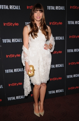 Jessica Biel steps out at the 'Total Recall' New York Premiere at Chelsea Clearview Cinemas in New York on August 2, 2012