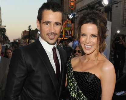 Colin Farrell and Kate Beckinsale arrive at the premiere of &#8216;Total Recall&#8217; in Hollywood, Calif. on August 1, 2012 