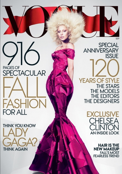 Lady Gaga on the cover of Vogue&#8217;s September 2012 issue