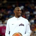 Team USA&#8217;s Kobe Bryant looks on ahead of the Men&#8217;s Basketball gold medal game between the United States and Spain at the London 2012 Olympics Games on August 12, 2012