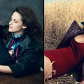 Nicolas Ghesquiere, Kristen Stewart and Jennifer Lawrence pictured for the Vogue 120 issue