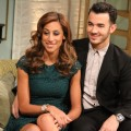 Kevin Jonas and his wife, Danielle Jonas, stop by Access Hollywood Live on August 16, 2012