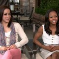 Jordyn Wieber and Gabby Douglas chat with Access Hollywood on August 16, 2012