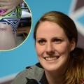 Missy Franklin, inset: Missy&#8217;s new tattoo