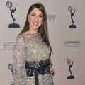 Mayim Bialik arrives to the Academy of Television Arts & Sciences' Performers Peer Group Cocktail Reception at the Sheraton Hotel in Universal City, Calif. on August 20, 2012