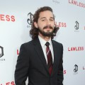 A scruffy Shia LaBeouf arrives at the premiere of 'Lawless' held in Hollywood, Calif. on August 22, 2012