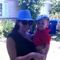 Laura Saltman and her son Brenner