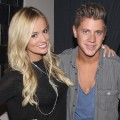 Emily Maynard and Jef Holm celebrate his 28th birthday at Abe & Arthur's in New York City on July 24, 2012