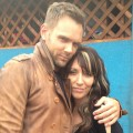 Joel McHale and Katey Sagal