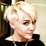 Miley Cyrus shows off new pixie cut on August 12, 2012