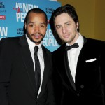 Donald Faison and Zach Braff attend an after party celebrating the press night performance of &#8216;All New People&#8217; at St Martin&#8217;s Lane Hotel, London, on February 28, 2012