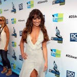 Lea Michelle looks stunning in a flowing Fendi dress at the 2012 Do Something Awards.