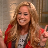 Sabrina Bryan hits the set of Access Hollywood Live as part of her 'Dancing with the Stars' campaign, August 15, 2012