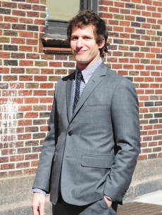 Andy Samberg visits &#8216;The Late Show with David Letterman&#8217; at the Ed Sullivan Theater in New York City, August 13, 2012