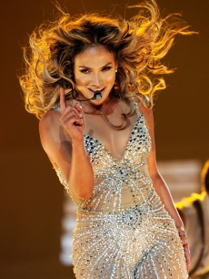 Jennifer Lopez seen performing at The Staples Center in Los Angeles on August 16, 2012
