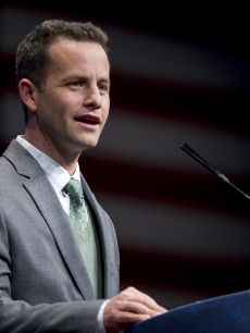 Kirk Cameron speaks at the 2012 Conservative Political Action Conference in Washington, D.C., February 9, 2012