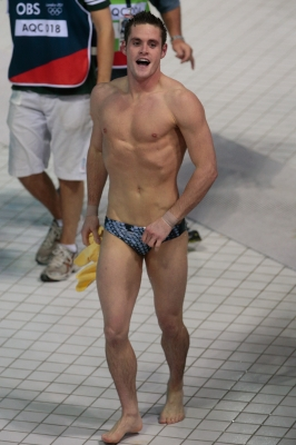 Team USA&#8217;s David Boudia celebrates winning the Men&#8217;s 10m Platform Diving Final at the London 2012 Olympic Games on August 11, 2012