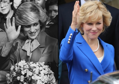 "Although the Princess Diana biopic ""Caught in Flight"" is still in the works, Naomi Watts already looks the part of England's beloved Princess of Wales!"