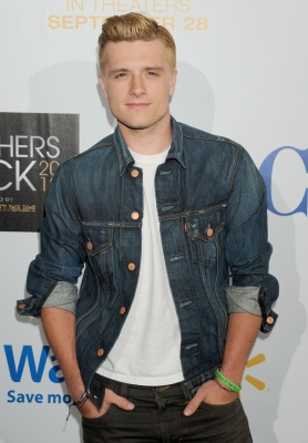 Josh Hutcherson — rocking his blond 'Hunger Games' hair — is seen at the 'Teachers Rock' benefit in Los Angeles on August 14, 2012