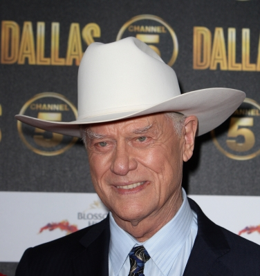 Larry Hagman arrives at the launch party for the new Channel 5 television series of 'Dallas' at Old Billingsgate, London, on August 21, 2012