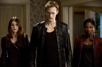 Lucy Griffiths, Alexander Skarsgard and Rutina Wesley in the &#8216;True Blood&#8217; Season 5 finale