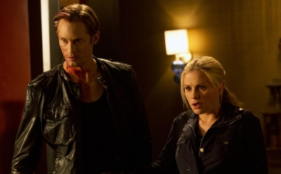 Alexander Skarsgard and Anna Paquin in the Season 5 finale of 'True Blood'