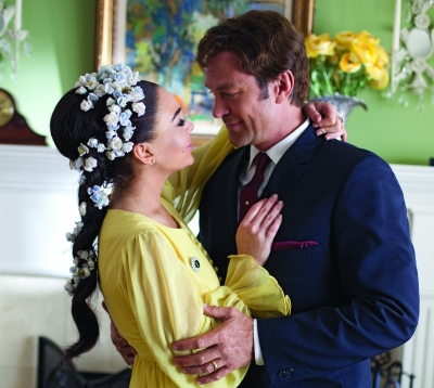Lindsay Lohan and Grant Bowler in 'Liz & Dick'