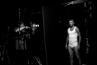 David Beckham during a photo shoot to promote his latest underwear line at H&amp;M.