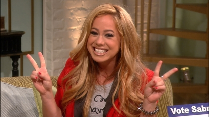 Sabrina Bryan hits the set of Access Hollywood Live as part of her &#8216;Dancing with the Stars&#8217; campaign, August 15, 2012