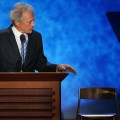 Clint Eastwood speaks during the RNC in Tampa, Fla., on August 30, 2012