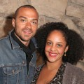Jesse Williams and Aryn Drake-Lee attend the Art Los Angeles Contemporary 2012 VIP Reception at the home of Eugenio Lopez, celebrating the Kick-Off of ALAC 2012 in Los Angeles on January 18, 2012 