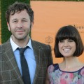 Chris O'Dowd and Dawn Porter attend the Veuve Clicquot Gold Cup Final at Cowdray Park Polo Club in Midhurst, England on July 15, 2012