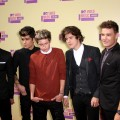 Louis Tomlinson, Zayn Malik, Niall Horan, Harry Styles and Liam Payne of One Direction arrive at the 2012 MTV Video Music Awards at Staples Center, Los Angeles, on September 6, 2012