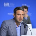 Ben Affleck speaks onstage at the 'Argo' press conference during the 2012 Toronto International Film Festival at TIFF Bell Lightbox in Toronto on September 8, 2012