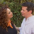 Maya Rudolph and Sean Hayes share a moment on the set of 'Up All Night,' September 13, 2012