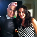 Pink with AccessHollywood.com's Laura Saltman
