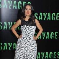 Salma Hayek arrives at the &#8216;Savages&#8217; Photocall in Paris on September 14, 2012