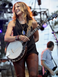 Emily Robison of the Court Yard Hounds performs as part of the Austin City Limits Music Festival Day Two at Zilker Park on September 17, 2011
