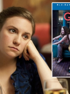 Lena Dunham (left); The cover for 'Girls: The Complete First Season'