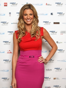 Erin Andrews attends Cantor Fitzgerald & BGC Partners host annual charity day on 9/11 to benefit over 100 charities worldwide at Cantor Fitzgerald on September 11, 2012 in New York City. The sports casting beauty was there on behalf of the Lollipop Theater Network.