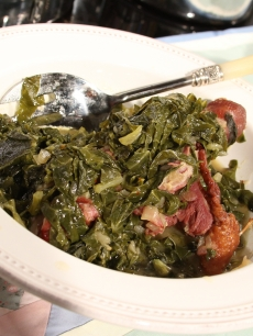 Welcome to Sweetie Pies' collard greens recipe from Access Hollywood Live