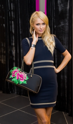 Paris Hilton is seen shopping at the Super Brand Mall in Shanghai, China on September 1, 2012