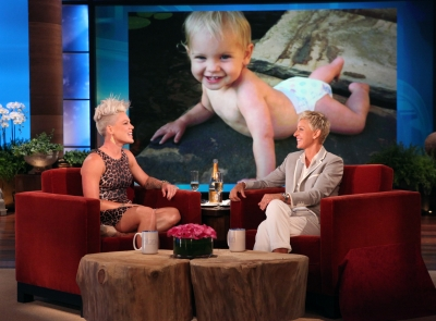 Pink visits &#8216;The Ellen DeGeneres Show&#8217;